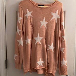 Cute Star light pink sweater!